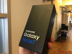 Samsung Galaxy S7 note in a box