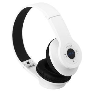 AEC BQ-605  wireless bluetooth headphones in white
