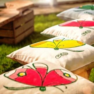 Cuscino Pascucci con farfalle di Tonino Guerra