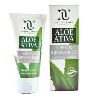 Aloe Attiva crema riparatrice viso mani corpo Natur Unique
