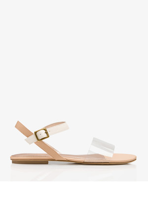 Forever21 Clear Strap Colorblocked Sandals