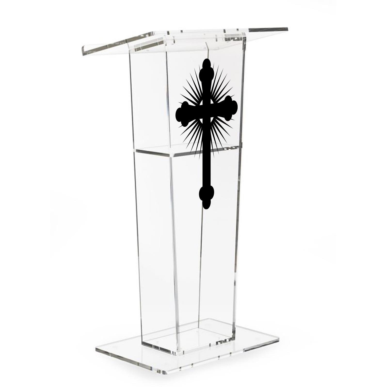 Custom Printed Acrylic Single Shelf Podium Lectern