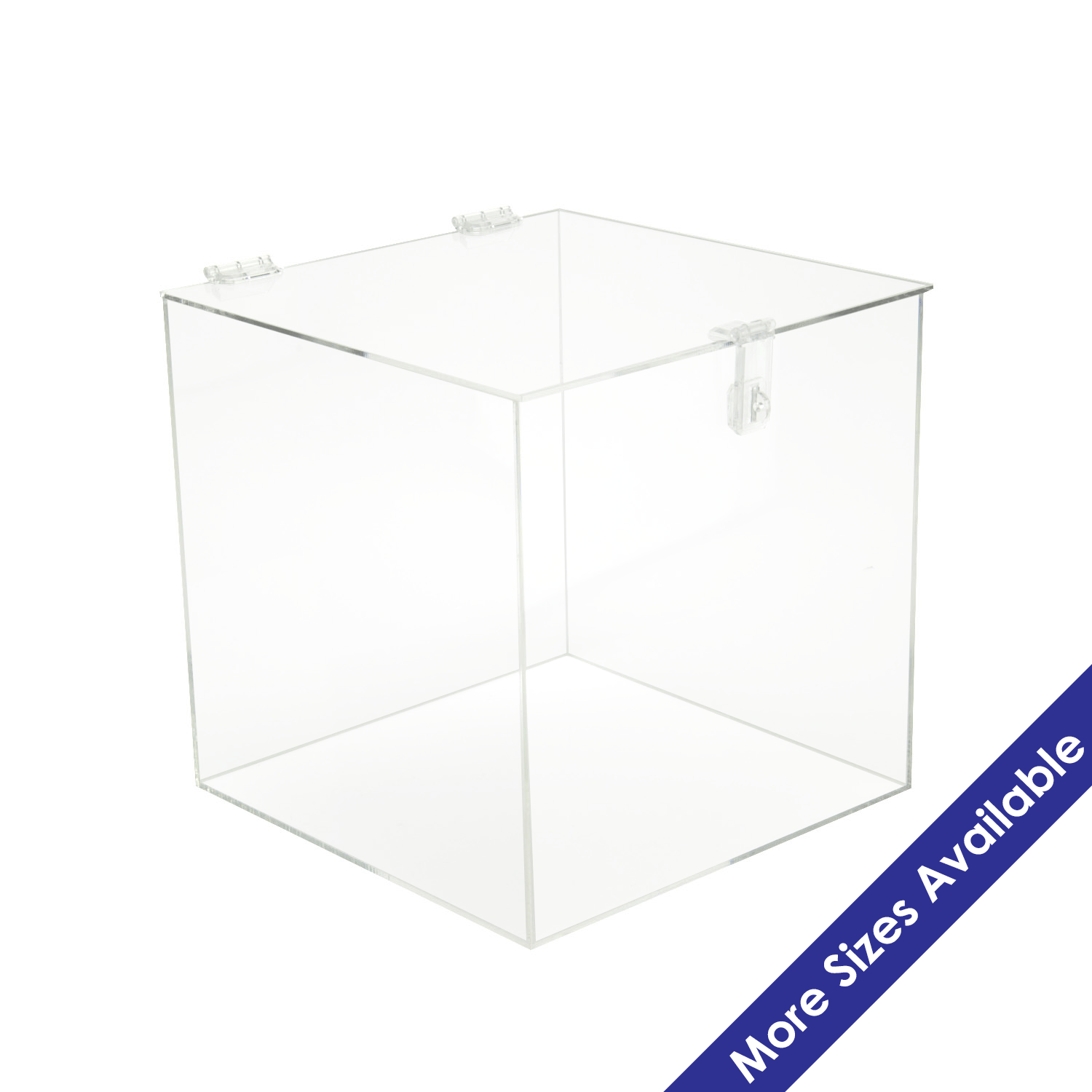 Acrylic 5 Sided Box W Hasp Lock Lid