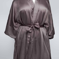 Sablier Plush Pewter Short Robe