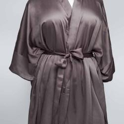 Sablier Plush Pewter Short Robe