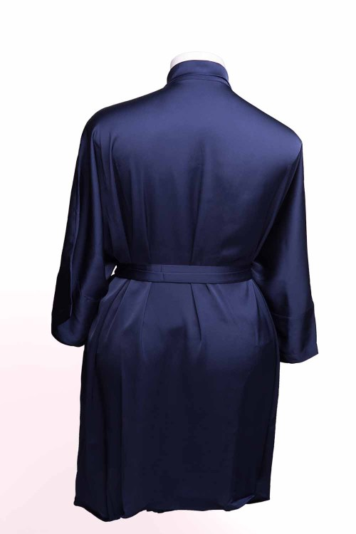 Sablier Midnight Blue Short Robe, Back View