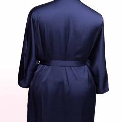 Sablier Midnight Blue Short Robe, Back View