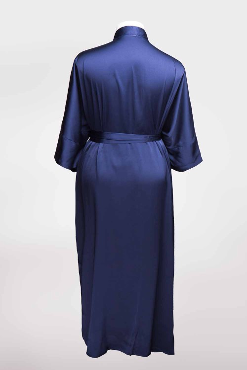 Sablier Midnight Blue Long Robe, Back View