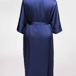 Sablier Midnight Blue Long Robe, Back View