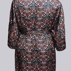 Sablier Everglade Print Short Robe, Back View