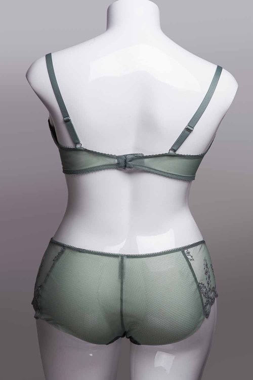 Wacoal Innocence Triangle Wire Bra and Brief Set, Back View