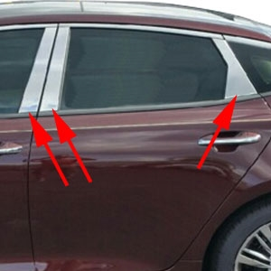 Kia Optima Chrome Pillar Post Trim 2016 2017 2018 2019