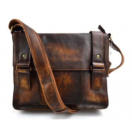 sac cuir vintage d epaule marron sac cartable sac postier sac en cuir homme femme