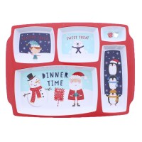 Kids Xmas 5 Section Food Tray
