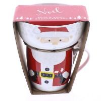 Noel Santa Stacking Mug & Breakfast Bowl Set