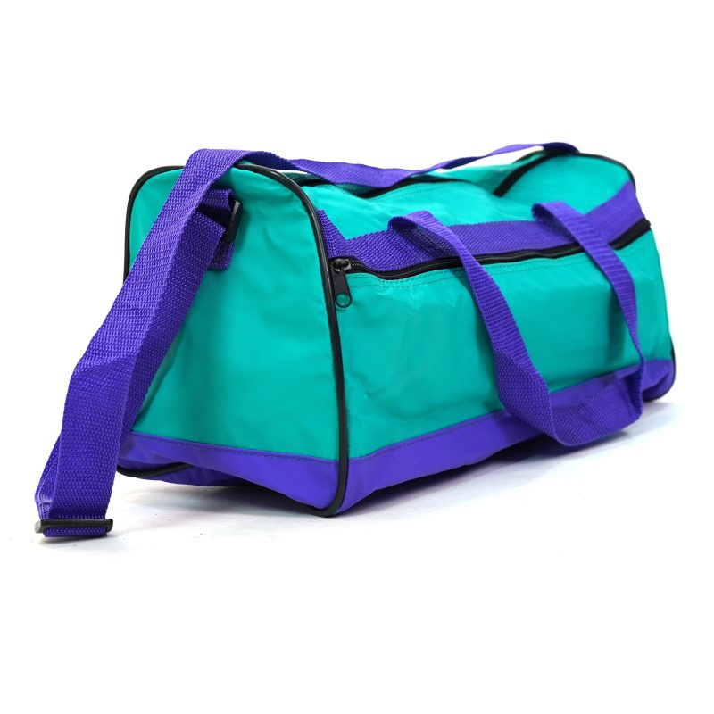 Color Block Nylon Duffel Bag