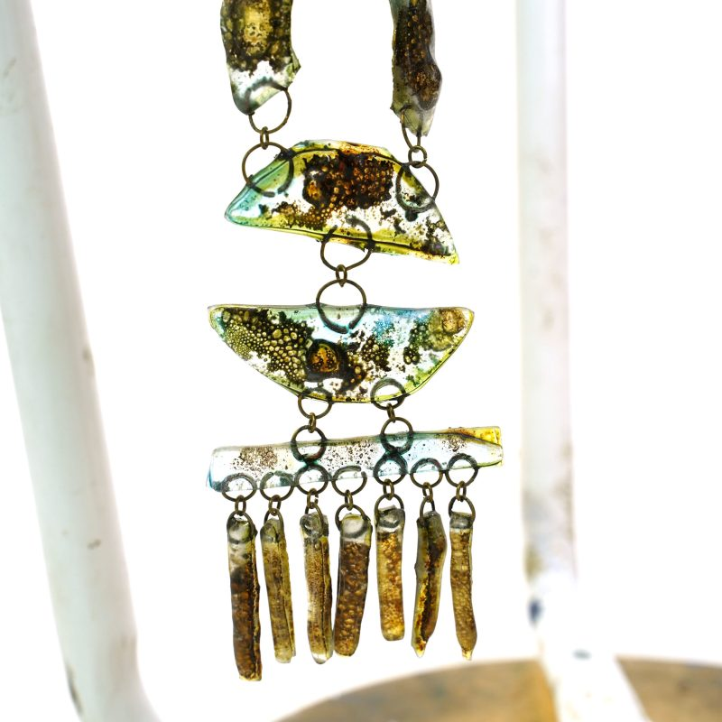 Vintage 60s Art Glass Necklace One of a Kind