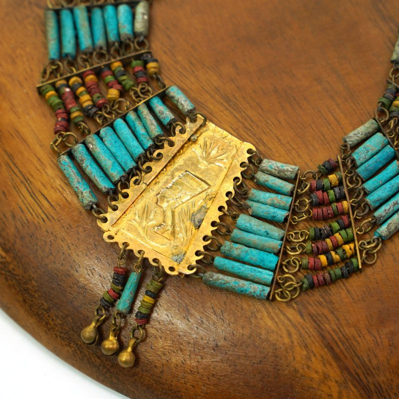 Egyptian Faiance Mummy Bead Necklace