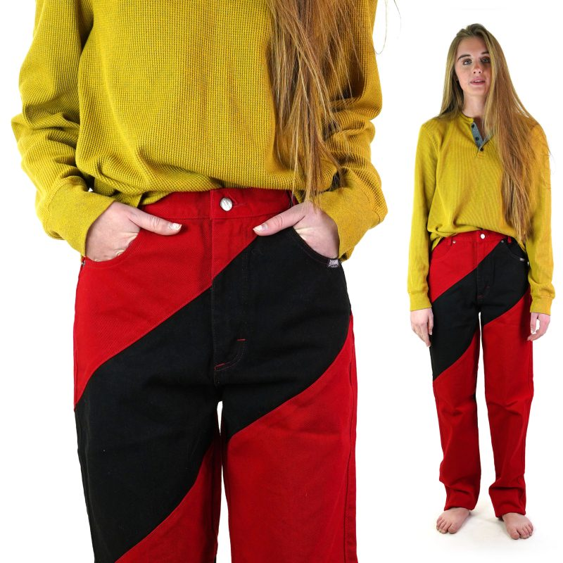 High Waist Colorblock Western Jeans by Roughrider