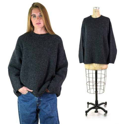 Charcoal Wool Sweater by J Crew Size Large
