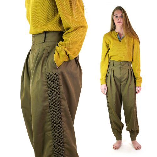Unusual Pleated Harem Pants from Argentina Women's Medium