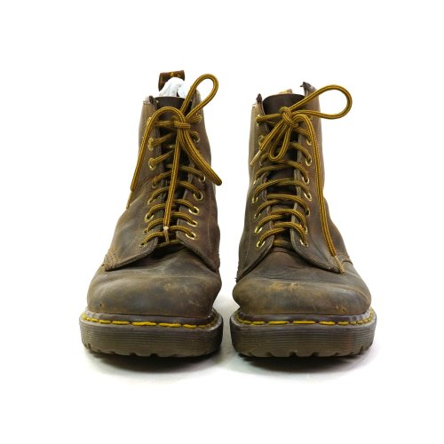Vintage Dr Marten Brown Leather Ankle Boots Made in England