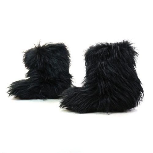 Vintage Italian Goat Hair Winter Boots