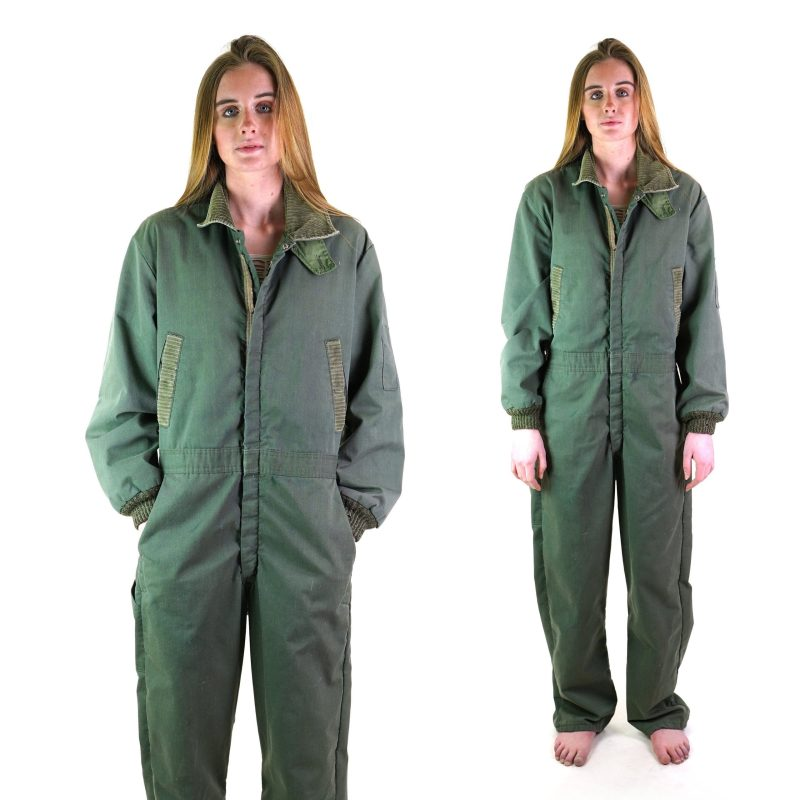 Sears Army Green Lined Coveralls 46 in Chest