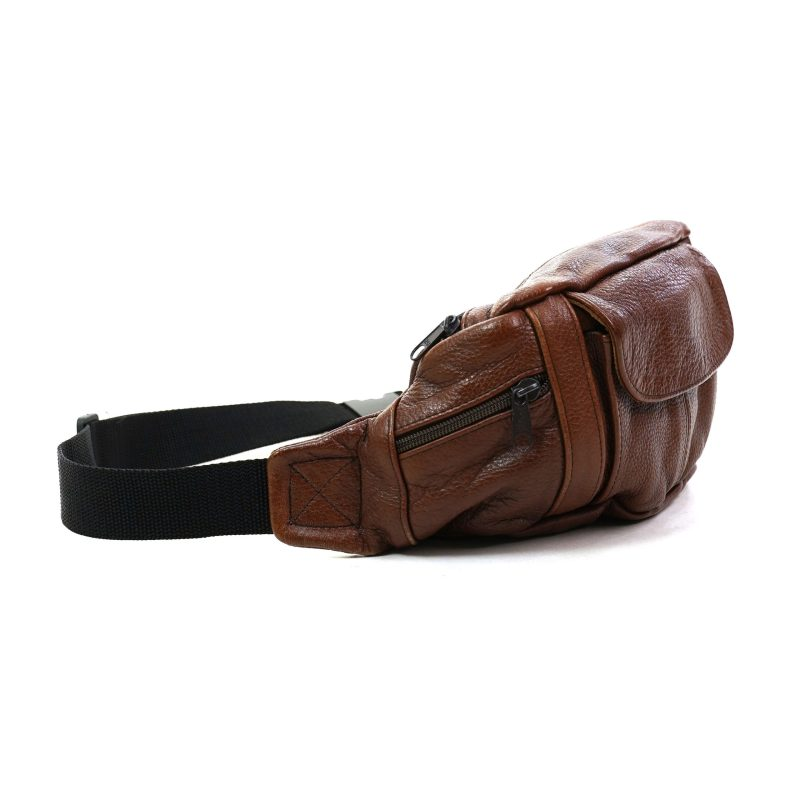Vintage 90s Brown Leather Fanny Pack