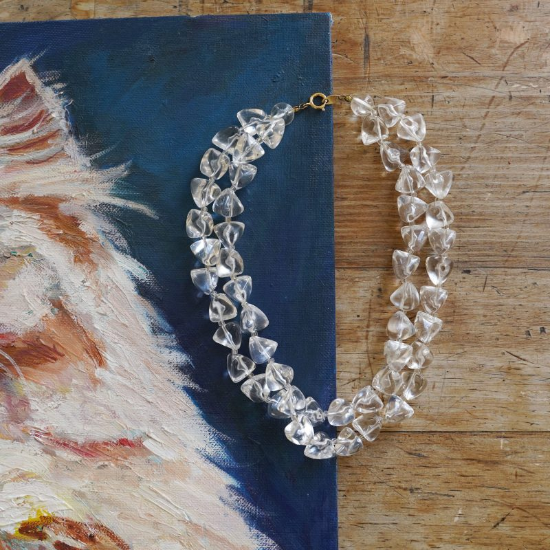 Ice Cube Lucite Beaded Necklace by Trifari
