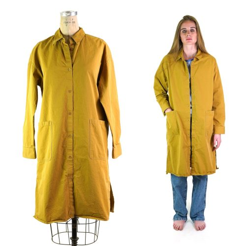 90s Mustard Duster Size Large