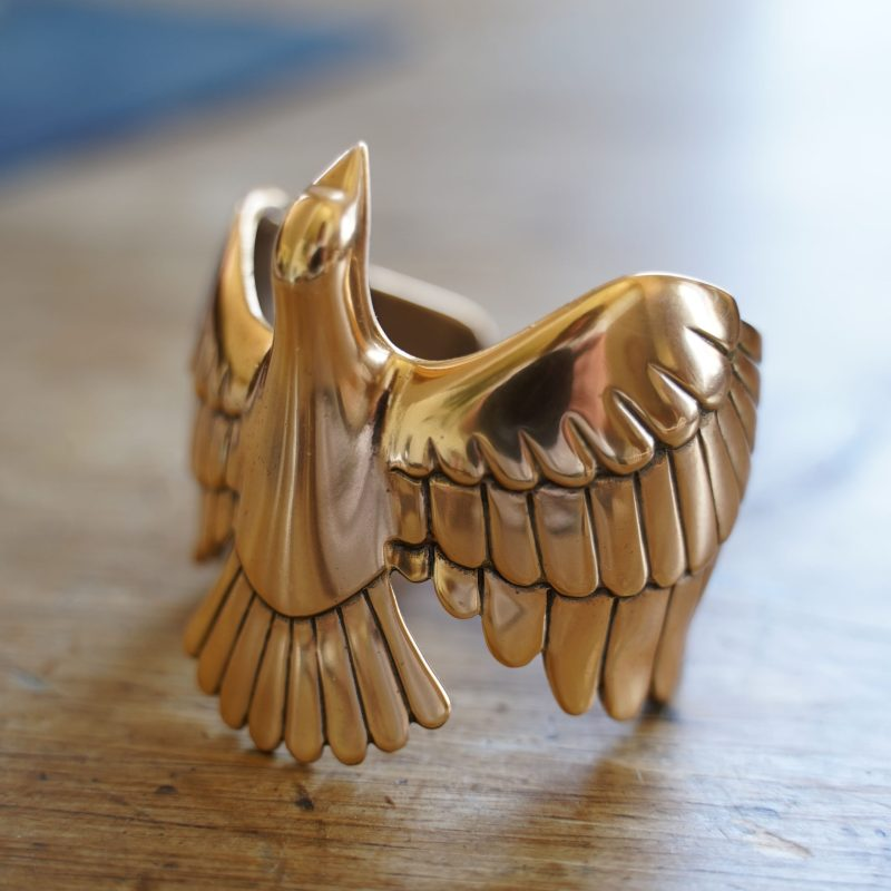 Dove Cuff Bracelet by ArtMiners Gold Plated