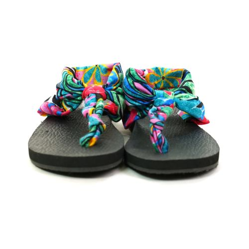 Printed Fabric Sandals by Jams World Women's Size 7