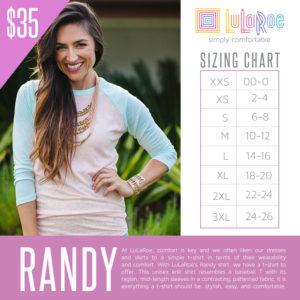 Randy Sizing Chart