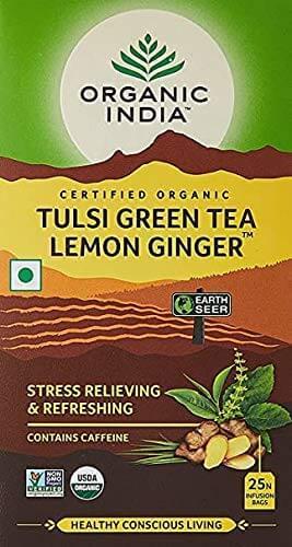 Organic India tulsi green tea - Best Green Tea in India