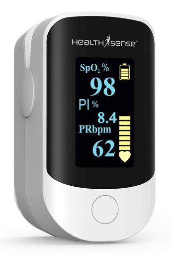 HealthSense Fingertip pulse oximeter - Best Pulse Oximeter in India