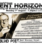 Event Horizon 10 - Science Fiction night at the Blind Poet, 1st August 2016
