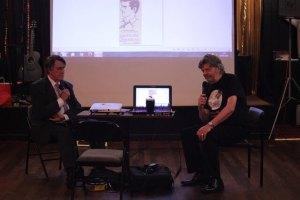 Duncan Lunan interviews Sydney Jordan photo: Stewart Horne