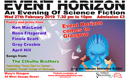 Shoreline of Infinity Event Horizon – Wednesday 27th February 2019