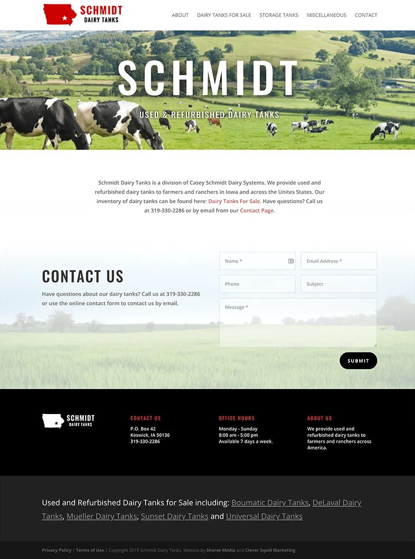 Schmidt Dairy Tanks