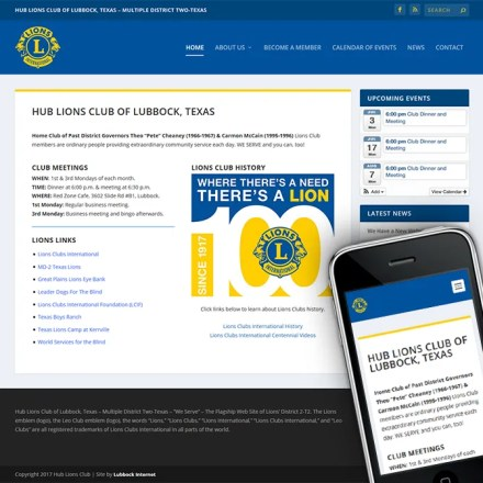 Website Rebuild for Hub Lions Club
