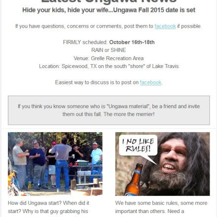 Ungawa Newsletter