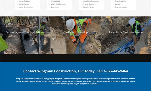 New Website for Wingman Construction in Cedar Park
