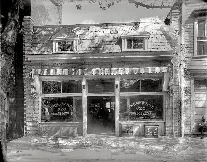 H Street Market 1920 Shorpy Historical Photos