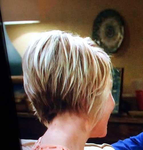 Short Bob Blond Shaggy Haircut