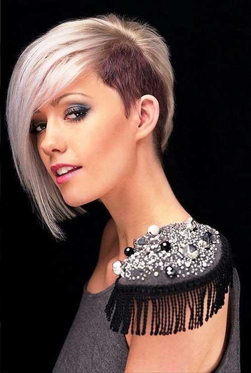 Short Punk Blonde Hairstyle