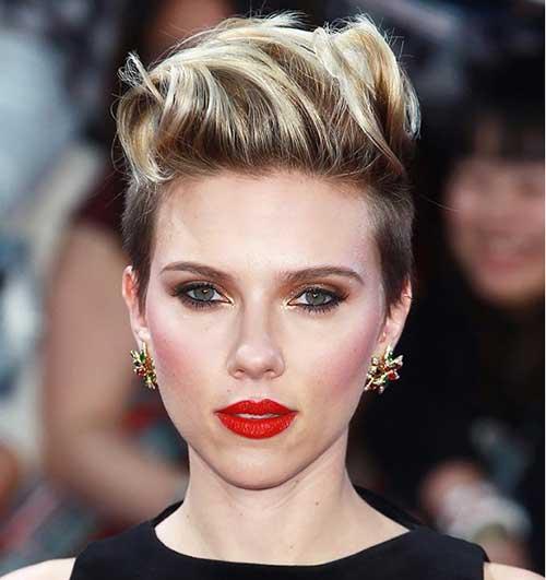 Scarlett Johansson Short Punk Haircut
