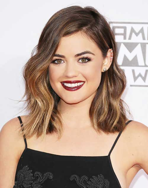 Lucy Hale Short Shoulder Length Bob Hair Cut