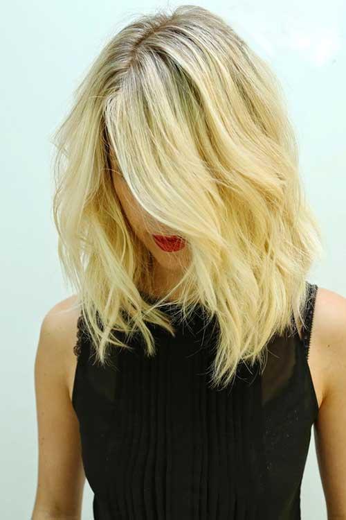 Shoulder Short Blonde Hair