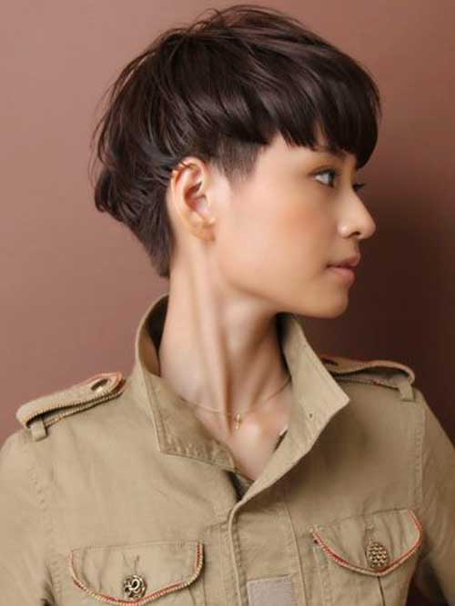 Short Straight Haircut Japanese Style